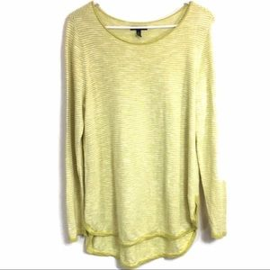 Eileen Fisher Striped Tunic Top Size Large Petite